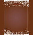 christmas gradient brown with retro border and vector image vector image