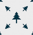 Christmas tree icon sign Seamless pattern with vector image vector image
