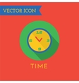 Clock Icon Icon Sound tools or Dj and vector image