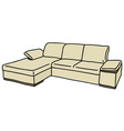 Cream couch vector image vector image