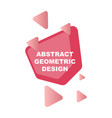 creative abstract geometric background with vector image vector image