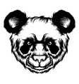 cute panda for tattoo ideas vector image vector image