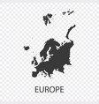 detailed map europe vector image