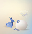 Easter rabbit origami style vector image