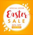 easter sale background banner vector image