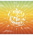 Enjoy the summer lettering vector image
