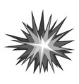explode effect icon monochrome vector image vector image