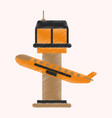 flat icon in shading style plane takeoff airport vector image vector image