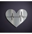 Flat metallic logo heart vector image vector image
