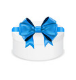 gift box with blue ribbon and bow vector image