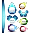 Glass shape icon set vector image vector image