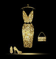 golden dress vector image