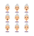 grandmother emotions face vector image