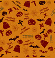 greetings halloween orange seamless pattern vector image