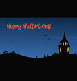 happy halloween night with castle vector image vector image