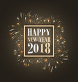 happy new year 2018 background with glowing vector image
