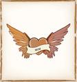 heart shape tattoo vector image vector image