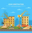 house or skyscraperbuilding or house construction vector image vector image