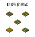 isometric road set of footpath downward plane vector image vector image