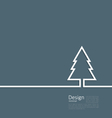 Laconic design of xmas tree fir on cleaness line vector image vector image