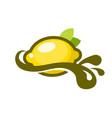 lemon splash logo icon vector image vector image