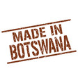 made in botswana stamp vector image vector image