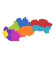 Map of Slovakia vector image vector image