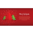 Merry Christmas red horizontal postcard vector image vector image