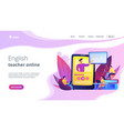 online teaching concept landing page vector image vector image