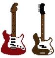 pixel guitar set2 vector image vector image