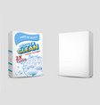 powder laundry detergent package mockup set vector image