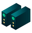 power supply device icon isometric style vector image vector image