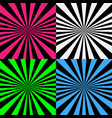 psychedelic spiral set with radial rays vector image vector image