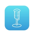 Retro microphone line icon vector image