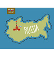 Russia Map Russia surrounded by barbed wire The vector image vector image