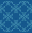 seamless abstract vintage blue pattern vector image vector image