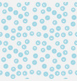 seamless blue bacteria creative pattern vector image vector image