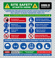 site safety starts here or safety sign vector image