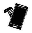 smartphone device with voucher vector image