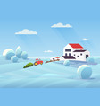 snowy winter landscape flat vector image vector image