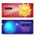 space cosmos and solar system planets vector image vector image