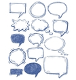 speech bubbles on chalkboard vector image vector image