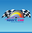 sport car racing vector image