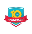 Ten years anniversary sticker color 10th vector image vector image