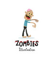 walking dead character in cartoon style vector image vector image