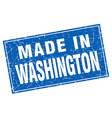 Washington blue square grunge made in stamp vector image vector image