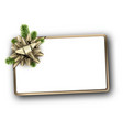 white new year background with golden bow vector image vector image
