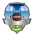 American Football Field and Field Goal Emblem vector image