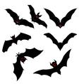 Flying Bats Set vector image