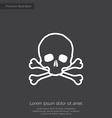 skull premium icon vector image